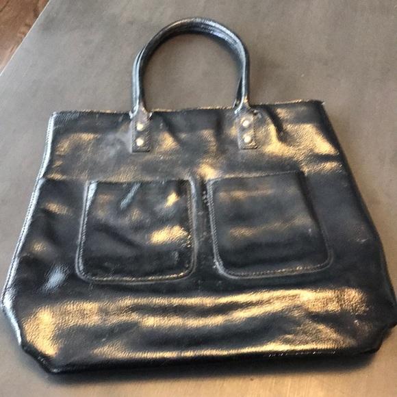 J. Crew Handbags - J.Crew black patent leather tote.